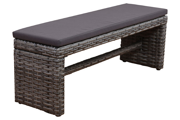 Amazonia Cebu 2-Seater Patio Bench by Ashley HomeStore, Gray