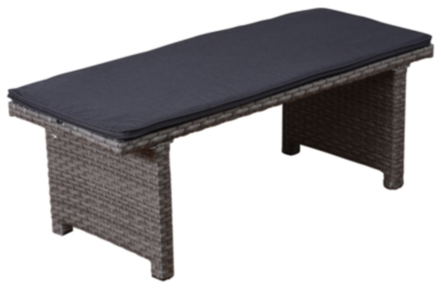 Image of Amazonia 2-Seater Patio Bench, Gray