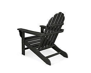 Polywood Emerson Adirondack Chair, Black, rollover
