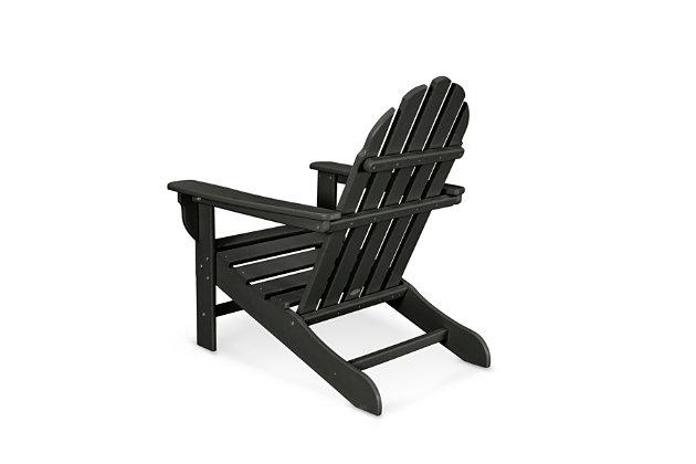 Polywood Emerson Adirondack Chair, Black, large