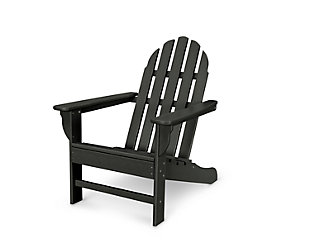 Polywood Emerson Adirondack Chair, Black, large