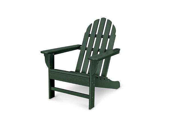 Polywood Emerson Adirondack Chair, Green, large