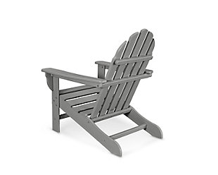 POLYWOOD Emerson Adirondack Chair, Slate Gray, rollover