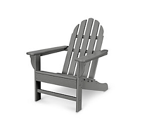 POLYWOOD Emerson Adirondack Chair, Slate Gray, large