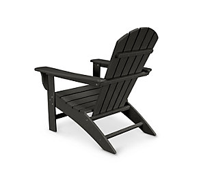 Polywood Emerson Shellback Adirondack Chair, Black, rollover