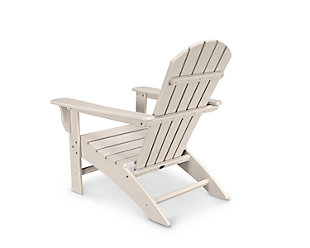 POLYWOOD Emerson Shellback Adirondack Chair, Sand, rollover