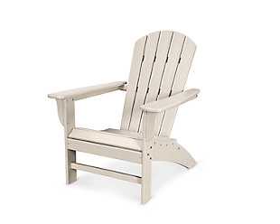 POLYWOOD Emerson Shellback Adirondack Chair, Sand, large