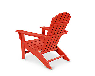 POLYWOOD Emerson Shellback Adirondack Chair, Sunset Red, rollover