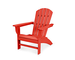 POLYWOOD Emerson Shellback Adirondack Chair, Sunset Red, large