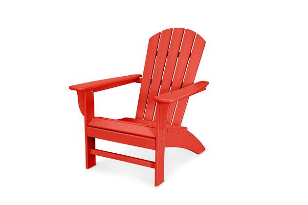 POLYWOOD Emerson Shellback Adirondack Chair, Sunset Red, large