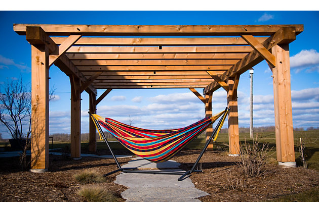 Patio Double Hammock with Stand, Paradise, large
