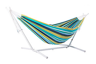 Patio Hammock with Stand, White Cayo Reef, large