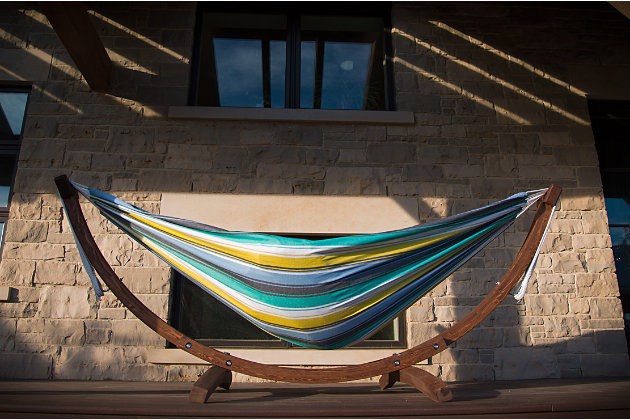 Patio Hammock with Stand, Cayo Reef, large