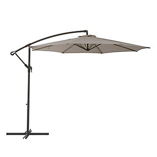 CorLiving 9.5' Outdoor UV Resistant Offset Patio Umbrella with Patio Base Weights Set, , large