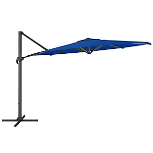 CorLiving 11.5' Outdoor UV Resistant Deluxe Offset Patio Umbrella and Base Set, , large