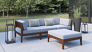 Linon Westwood 4 Piece Sectional Set, , rollover