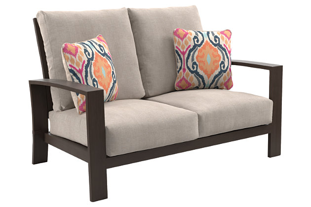 Cordova Reef Reef Loveseat with Cushion, , large