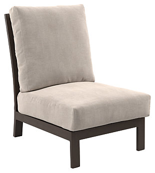 Cordova Reef Armless Chair with Cushion, , large
