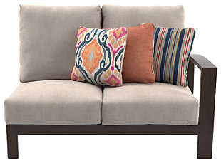 Cordova Reef Right-Arm Facing Loveseat with Cushion, , large