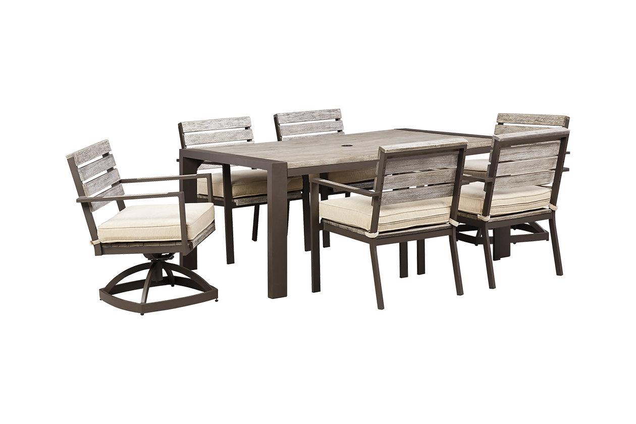 Peachstone 7-Piece Outdoor Rectangular Dining Set   Ashley Furniture ...