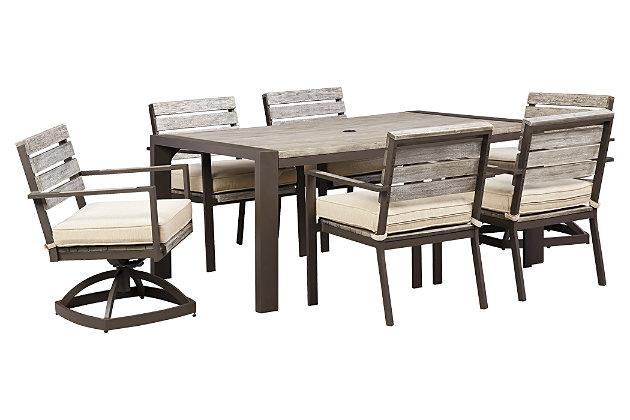 Peachstone Rectangular Outdoor Dining Table Ashley Furniture