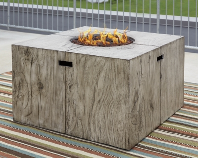 Peachstone Square Fire Pit Table by Ashley HomeStore, Bei...