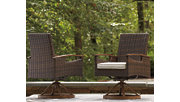 Paradise Trail Swivel Chair with Cushion (Set of 2), , rollover