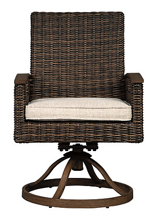 Paradise Trail Swivel Chair with Cushion (Set of 2), , large