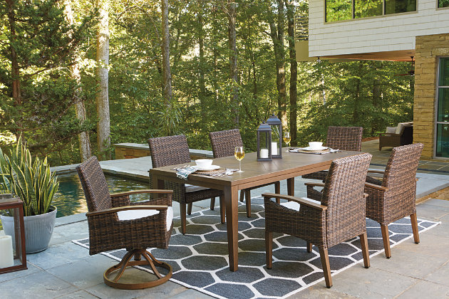 Paradise Trail Dining Table with Umbrella Option, , large