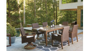 Paradise Trail Dining Table with Umbrella Option, , rollover
