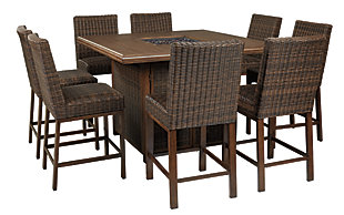 Paradise Trail 9-Piece Outdoor Bar Table Set, , large