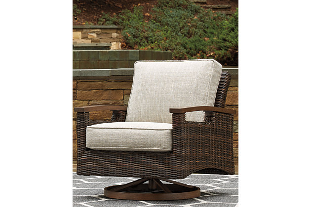 Paradise Trail Outdoor Swivel Lounge Chair Set Of 2 Ashley Furniture Homestore