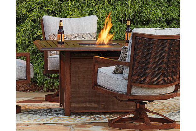 Zoranne 5-Piece Outdoor Fire Pit Conversation Set, , large