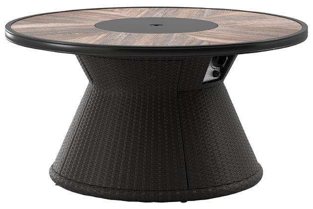 Marsh Creek Round Fire Pit Table, , large