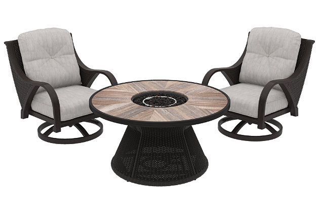 Marsh Creek 3-Piece Outdoor Conversation Set, , large