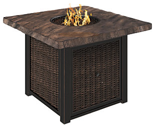 Alta Grande Square Fire Pit Table, , large