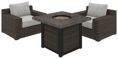 Trustworthy Piece Outdoor Conversation Set Beige Brown Grande Product Photo
