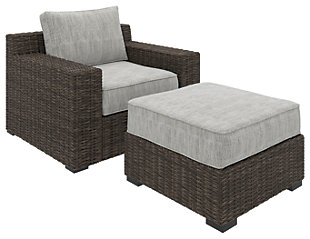 Alta Grande Outdoor Lounge Chair with Ottoman, , large