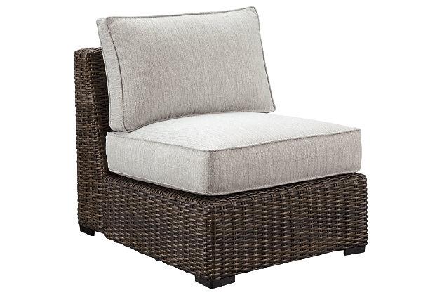 Alta Grande Armless Chair with Cushion, , large