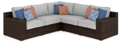 Piece Outdoor Seating Set Beige Brown Grande Product Photo 165