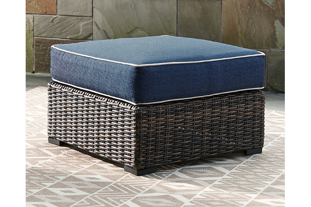 Grasson Lane Ottoman with Cushion, , large