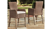 Beachcroft Bar Stool with Cushion (Set of 2), , rollover
