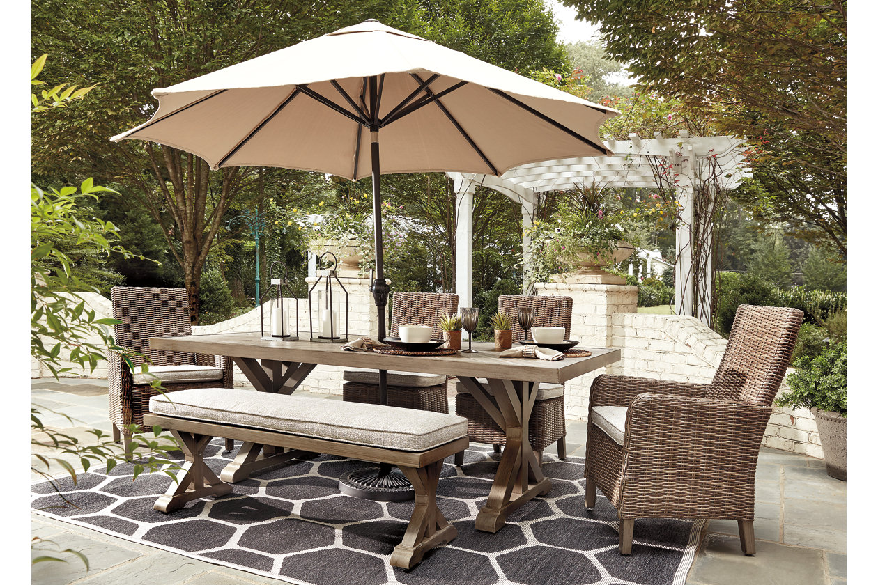 Beachcroft Dining Table With Umbrella