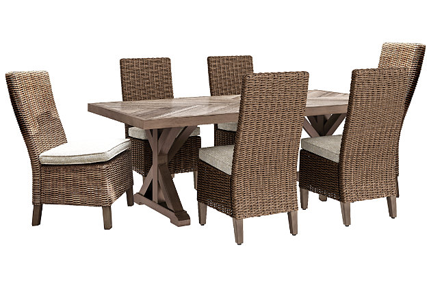 Beachcroft Outdoor Dining Table And 6, Ashley Furniture Outdoor Dining Chairs