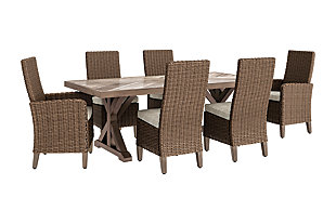 Beachcroft Outdoor Dining Table and 6 Chairs, , rollover