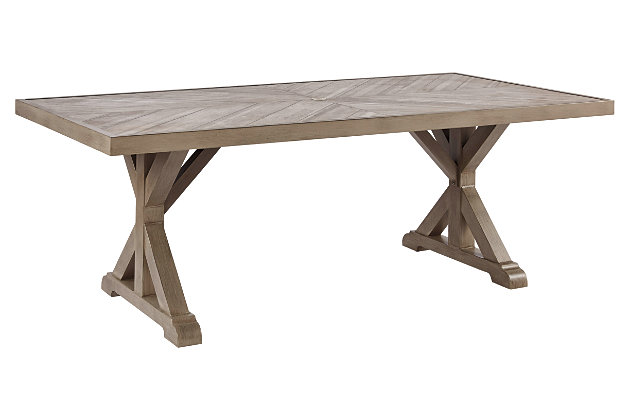 Beachcroft Dining Table with Umbrella Option, , large
