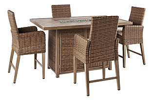 Beachcroft 5-Piece Outdoor Bar Table Set, , large