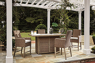 Beachcroft 5-Piece Outdoor Bar Table Set, , rollover