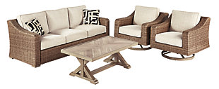Beachcroft 4-Piece Outdoor Conversation Set, , large