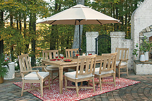 Clare View Outdoor Dining Table and 6 Chairs, , large
